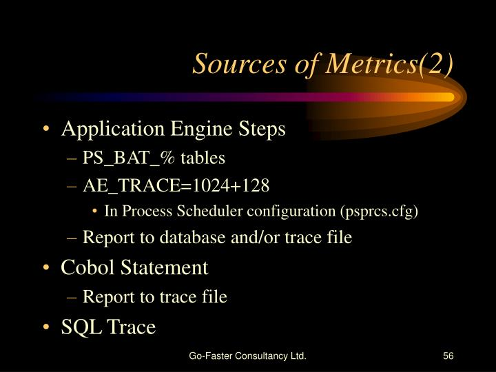 Sources of Metrics(2)