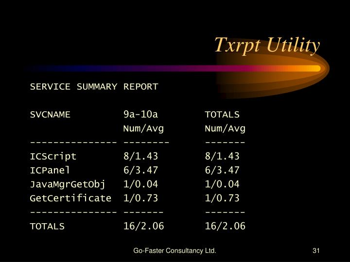 Txrpt Utility