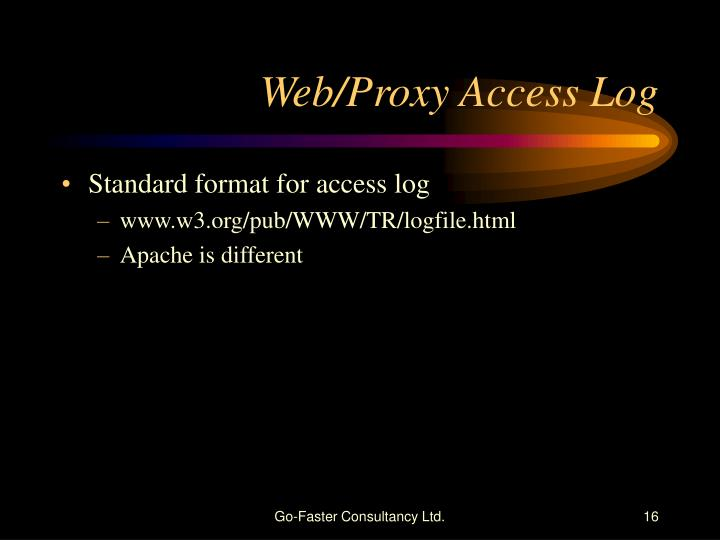 Standard format for access log