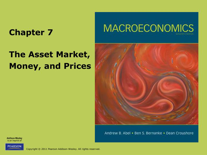 The asset market money and prices