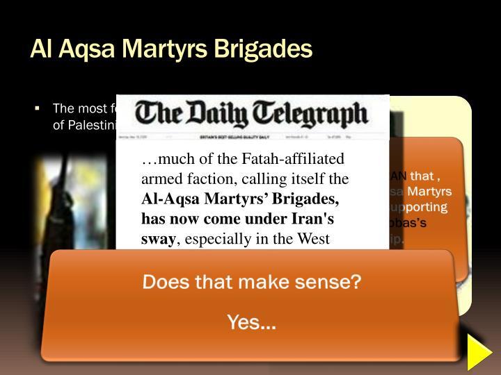 Al Aqsa Martyrs Brigades