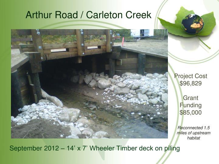Arthur Road / Carleton Creek