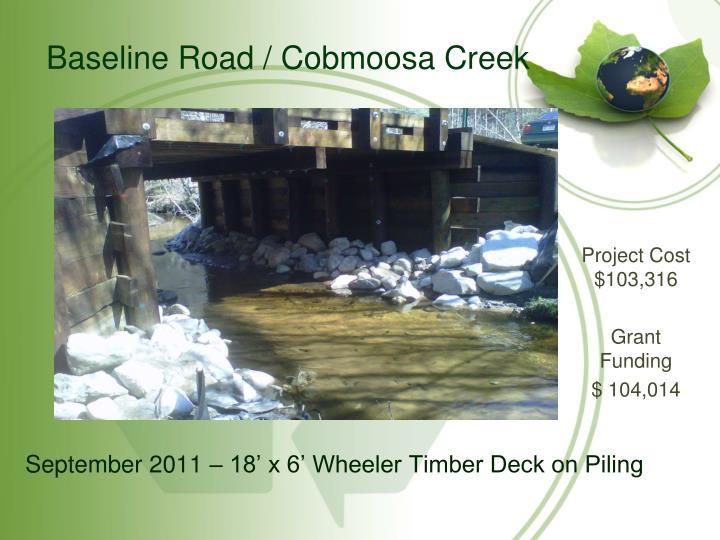 Baseline Road / Cobmoosa Creek