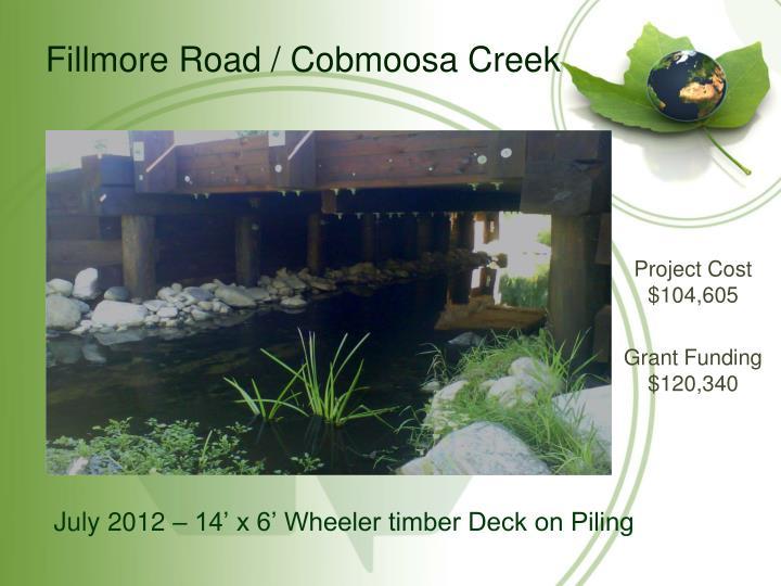 Fillmore Road / Cobmoosa Creek