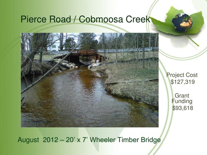 Pierce Road / Cobmoosa Creek