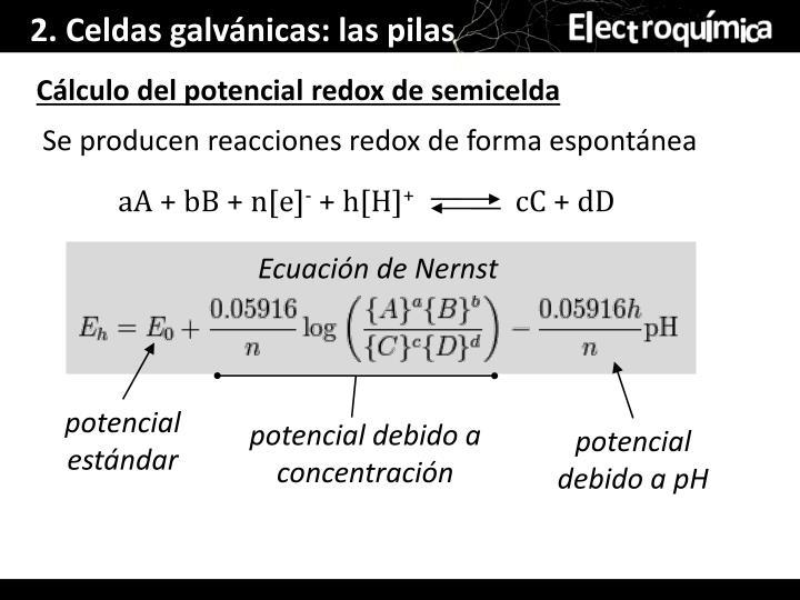 2. Celdas galvánicas: las pilas