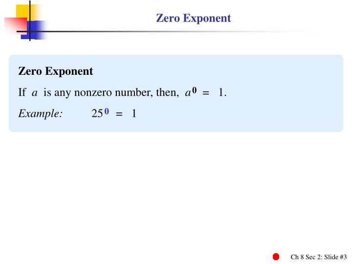 Zero Exponent