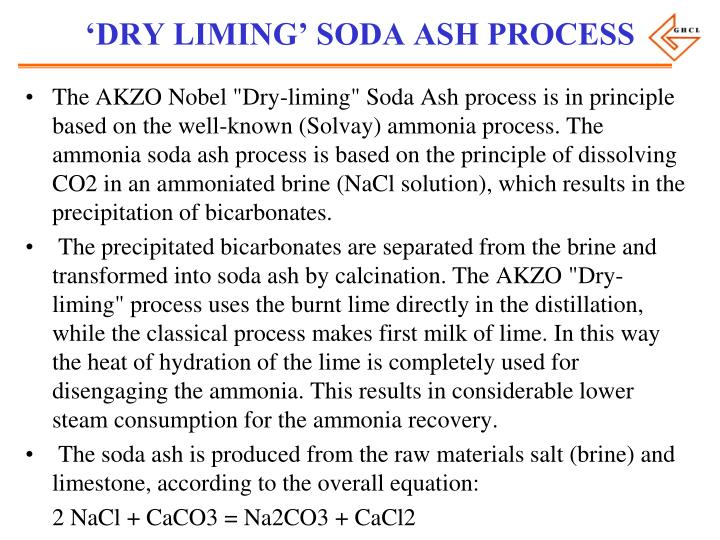 'DRY LIMING' SODA ASH PROCESS