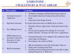 limestone challenges way ahead1