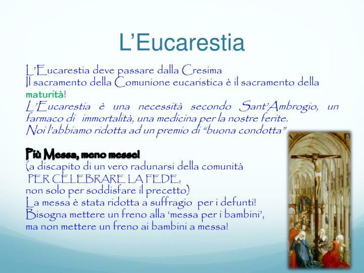 L'Eucarestia