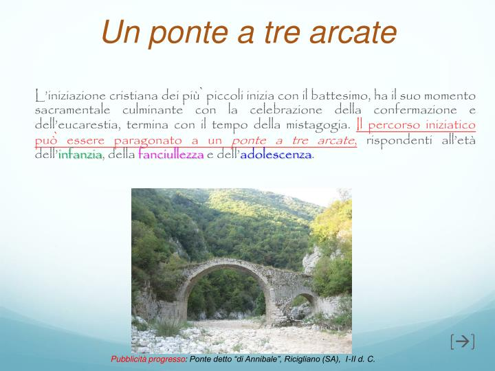 Un ponte a tre arcate