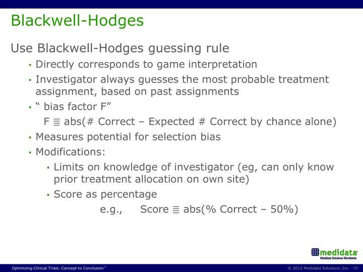 Blackwell-Hodges