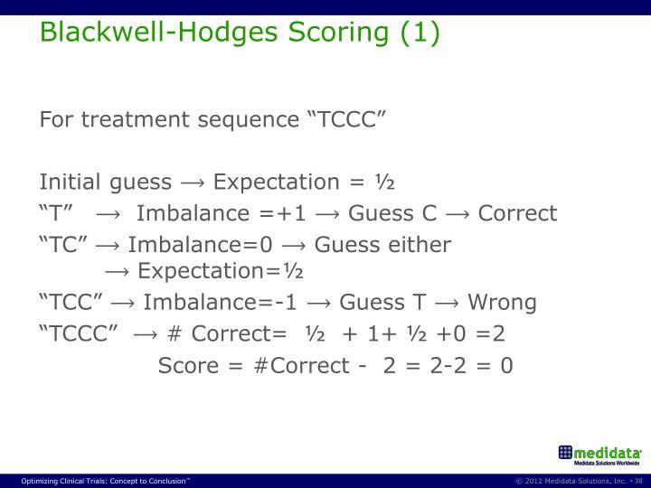 Blackwell-Hodges Scoring (1)