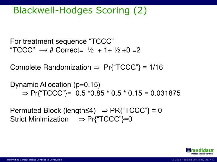 Blackwell-Hodges Scoring