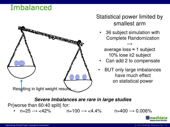 Imbalanced