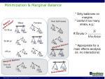 minimization marginal balance