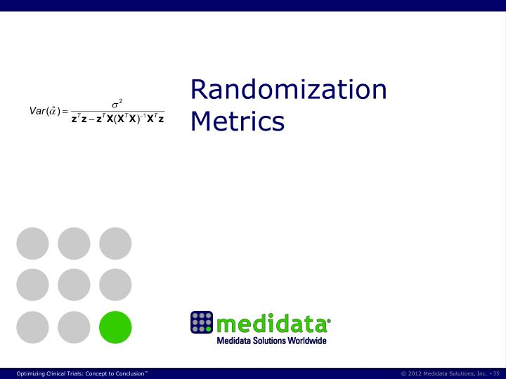 Randomization Metrics