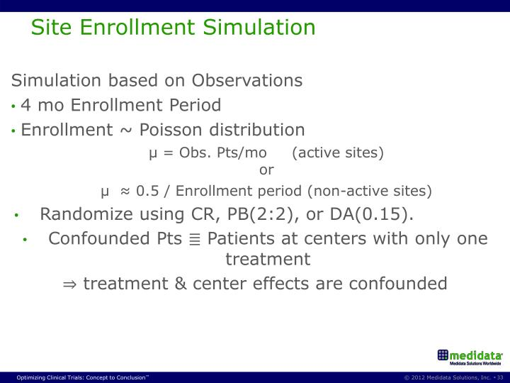 Site Enrollment Simulation