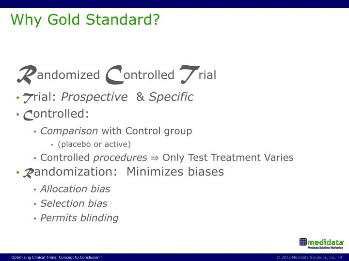 Why Gold Standard?
