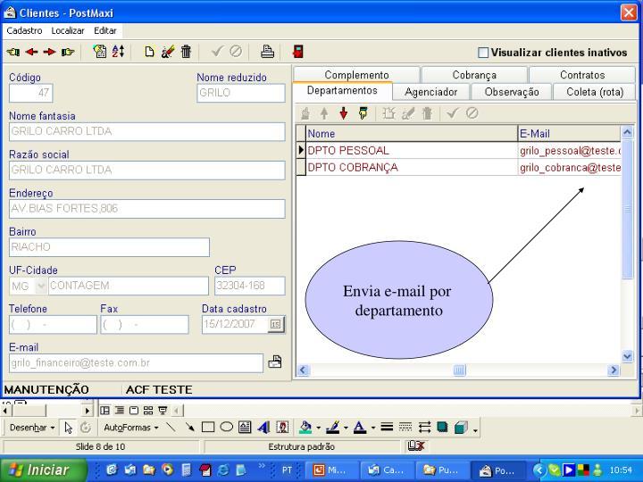 Envia e-mail por