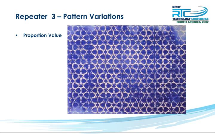 Repeater  3 – Pattern Variations