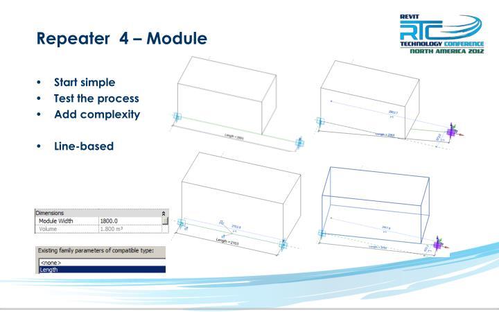 Repeater  4 – Module