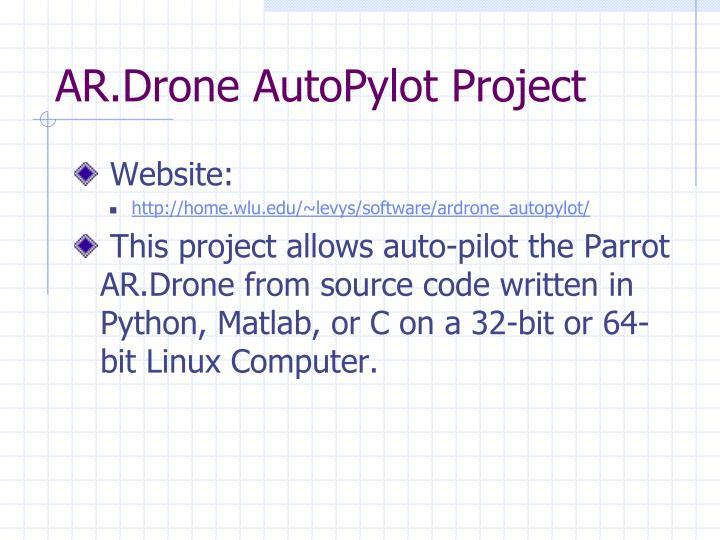 AR.Drone AutoPylot Project