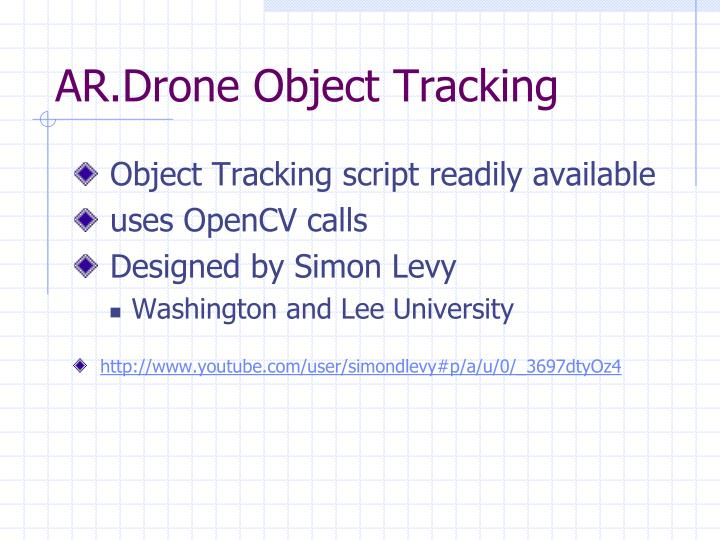 AR.Drone Object Tracking