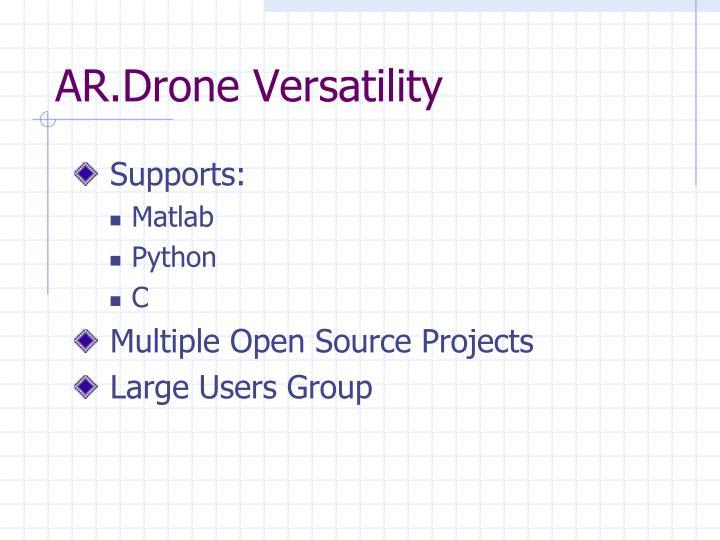 AR.Drone Versatility