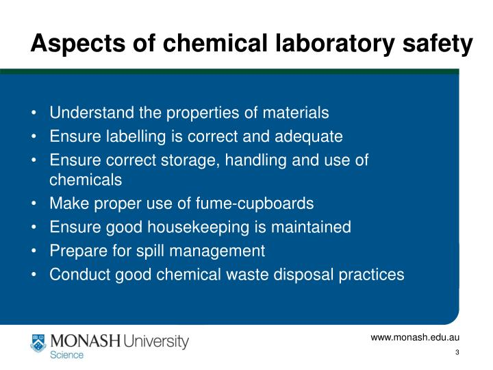 Aspects of chemical laboratory safety1