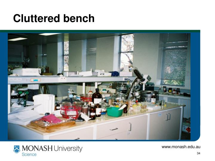 Cluttered bench