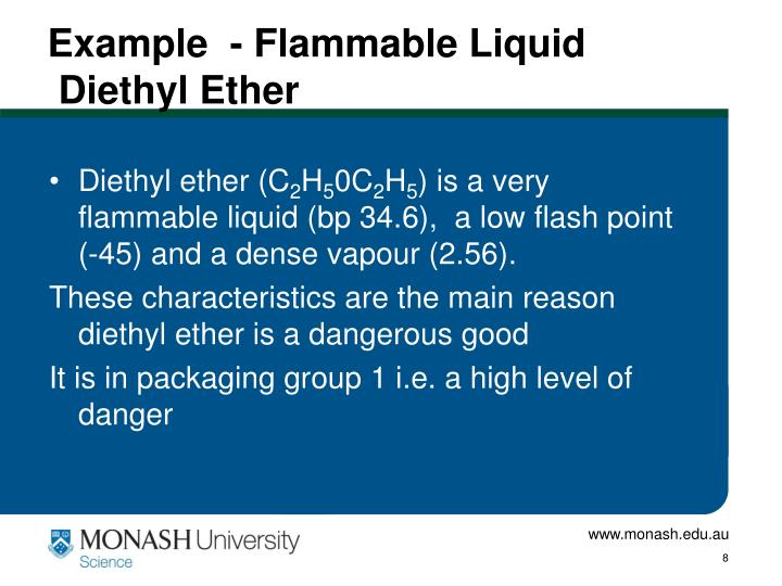 Example  - Flammable Liquid