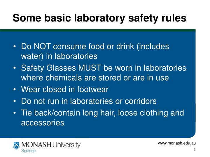Some basic laboratory safety rules