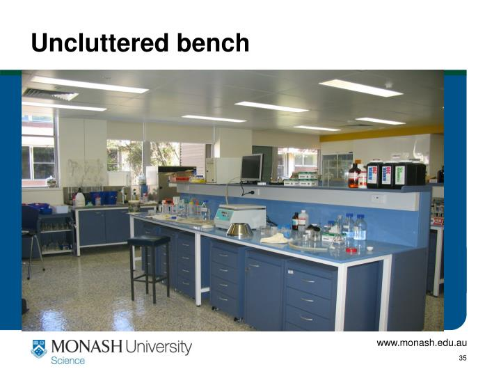 Uncluttered bench