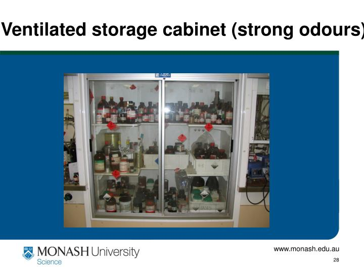 Ventilated storage cabinet (strong odours)