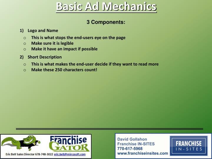 Basic Ad Mechanics