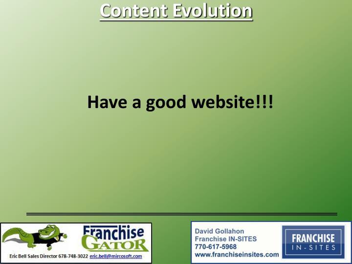 Content Evolution