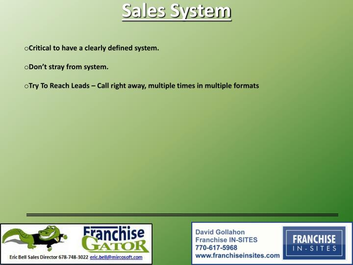 Sales System