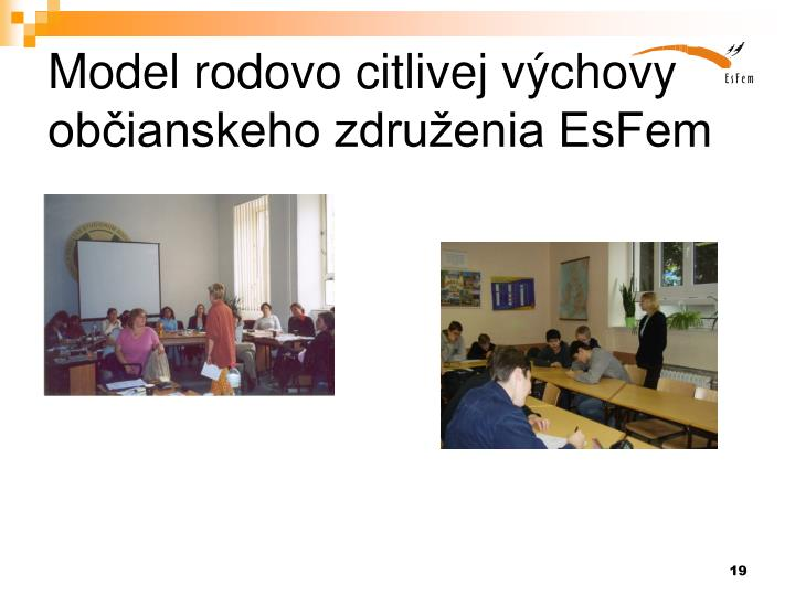 Model rodovo citlivej výchovy občianskeho združenia EsFem