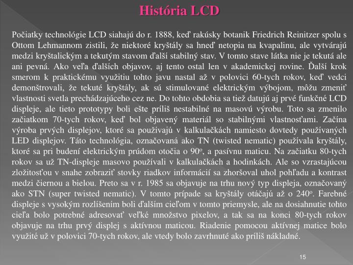 História LCD