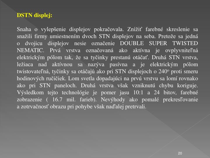 DSTN displej: