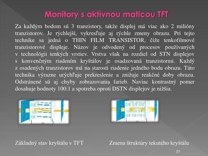Monitory s aktvnou maticou TFT