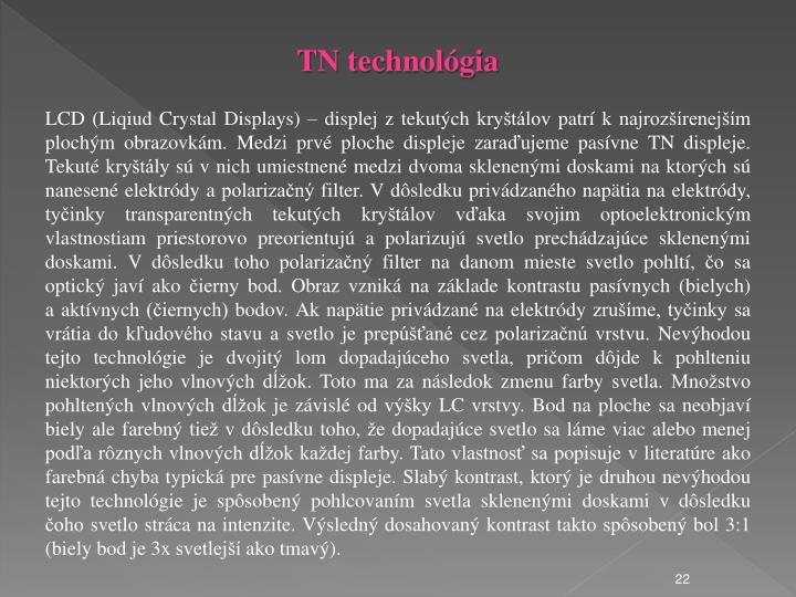 TN technolgia