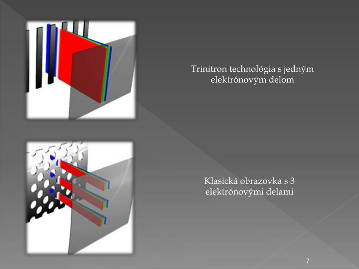 Trinitron technolgia s jednm elektrnovm delom