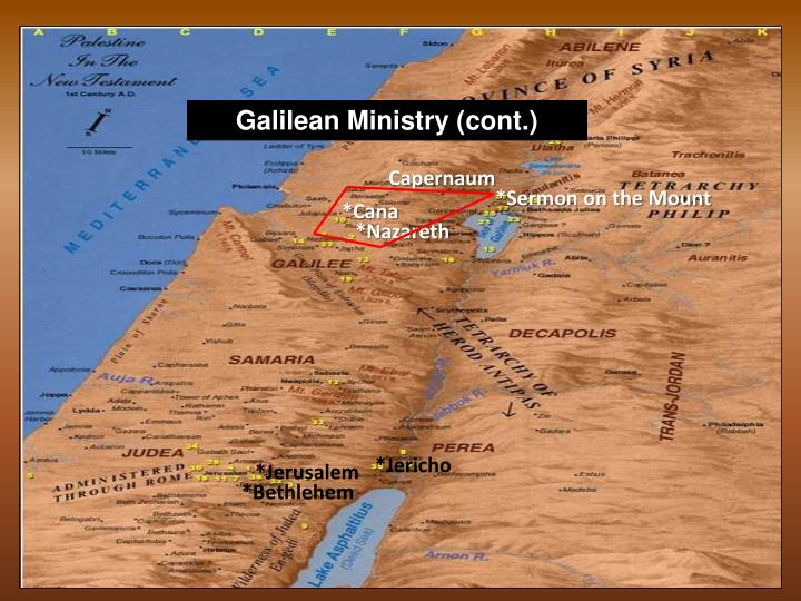 Galilean Ministry (cont.)