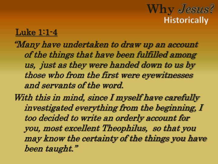 Luke 1:1-4