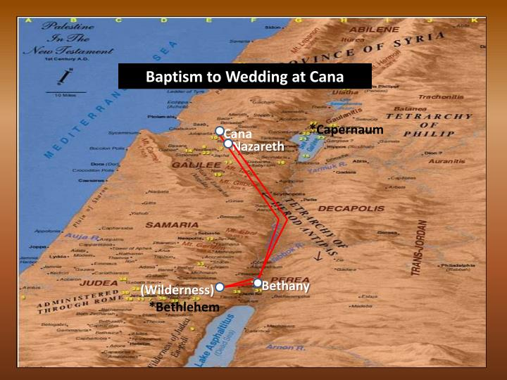 Baptism to Wedding at Cana