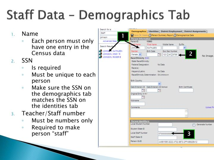 Staff Data – Demographics