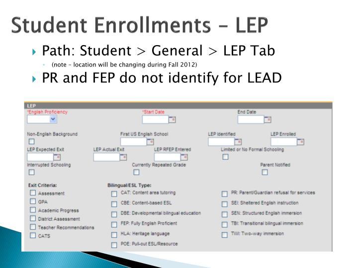 Student Enrollments – LEP
