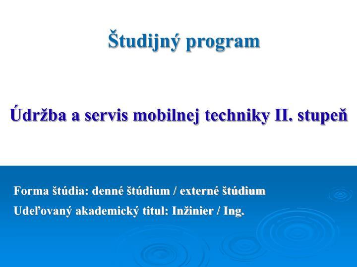 Študijný program